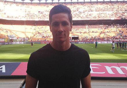 Fernando Torres nel suo nuovo stadio