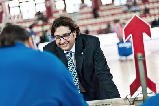 Andrea Trinchieri, allenatore di Cantù (Infophoto)