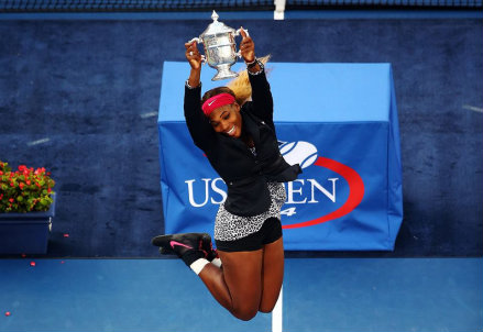 Serena Williams, 32 anni, ha vinto gli Us Open per la sesta volta