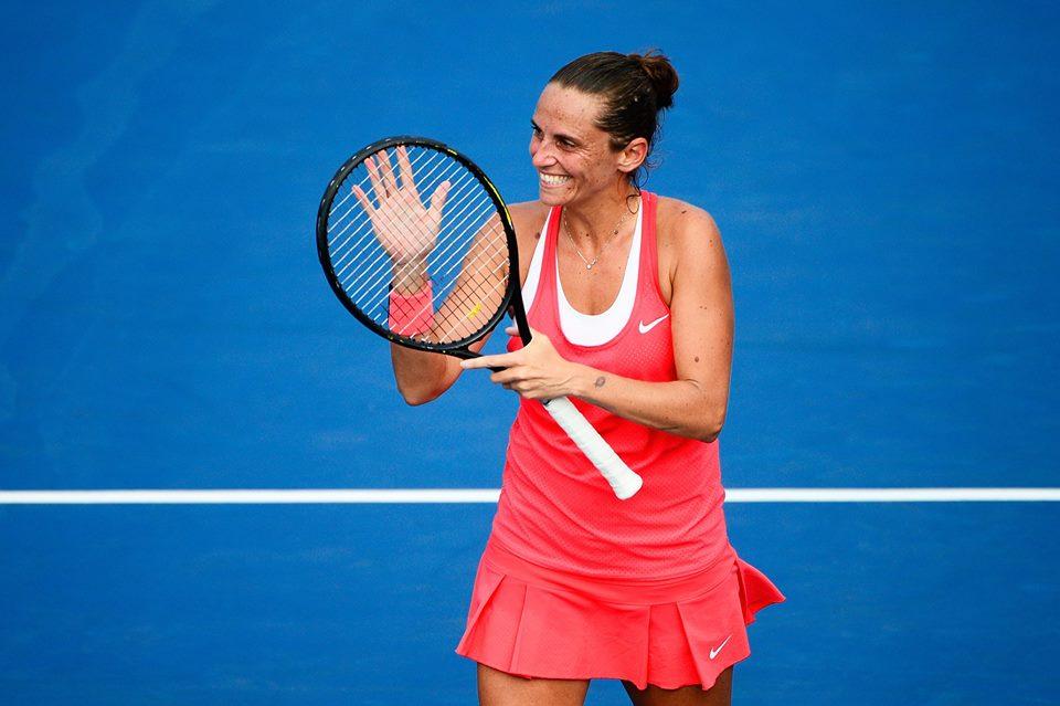 Roberta Vinci, 32 anni, prima semifinale Slam (dall'account ufficiale facebook.com/usopentennis)
