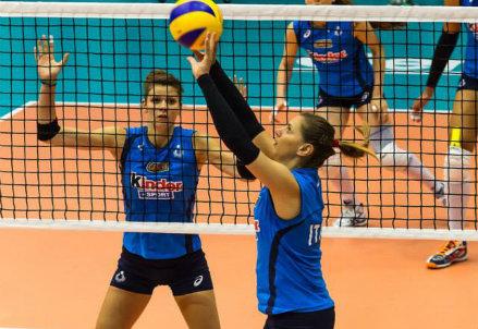 L'Italia del volley femminile in allenamento