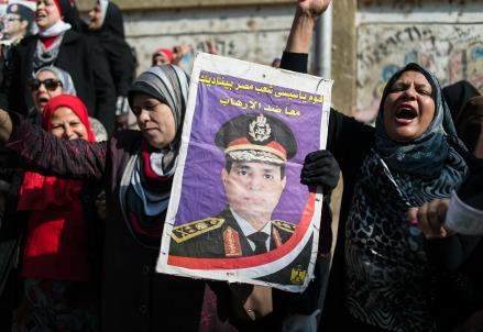 Sostenitori del generale Abdel Fattah El-Sisi