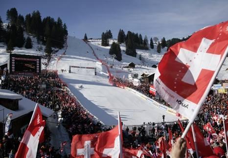L'arrivo della pista di Adelboden (da Facebook Adelboden FIS World Cup)