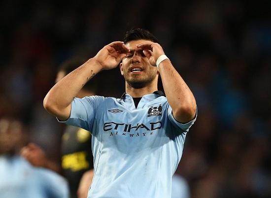 Sergio Aguero, 25 anni, attaccante argentino del Manchester City (INFOPHOTO)