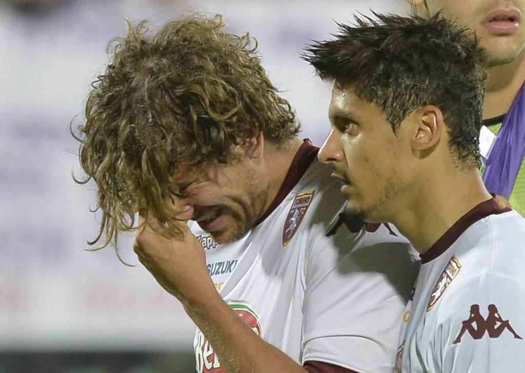 Alessio Cerci in lacrime (Infophoto)