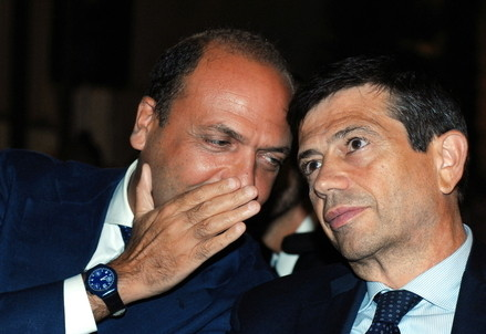Angelino Alfano e Maurizio Lupi (Infophoto)