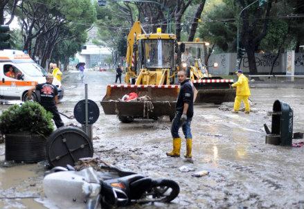 Alluvione a Genova (Infophoto)