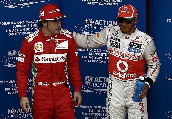 Fernando Alonso e Lewis Hamilton (Infophoto)