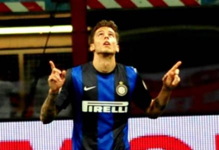 Ricardo Alvarez, 24 anni, centrocampista argentino dell'Inter (INFOPHOTO)