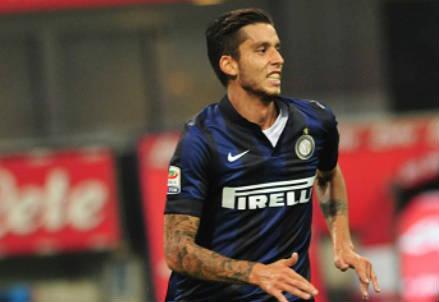 Ricardo Alvarez, 25 anni, centrocampista argentino dell'Inter (INFOPHOTO)