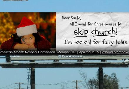 La pubblicità ateista