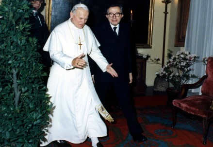 Andreotti e Giovanni Paolo II