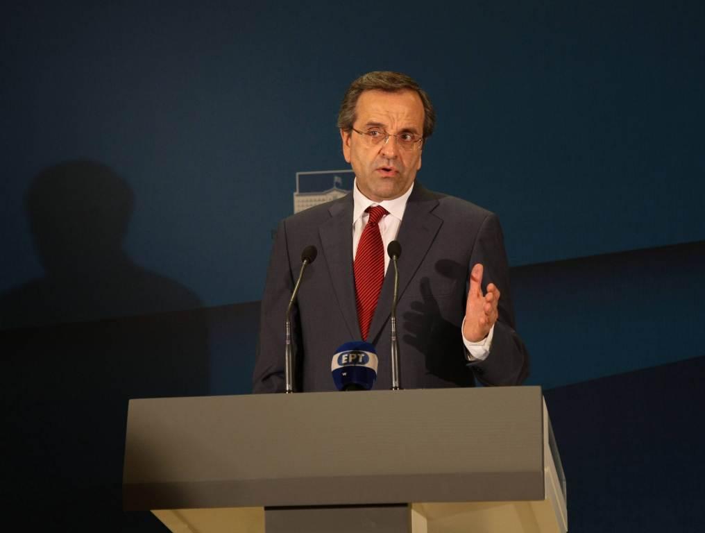 Il Presidente greco, Antoni Samaras (InfoPhoto)
