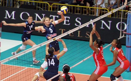 Sara Anzanello in azione in Nazionale (Infophoto)