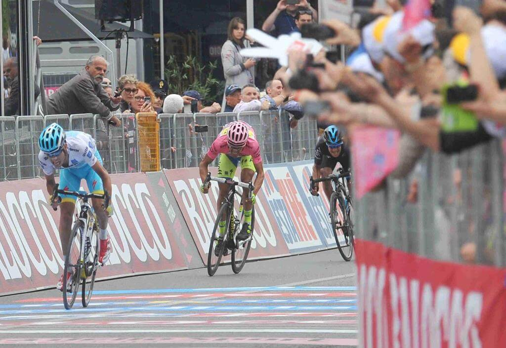 Aru, Contador e Porte: i grandi protagonisti del Giro (da Facebook Giro d'Italia)