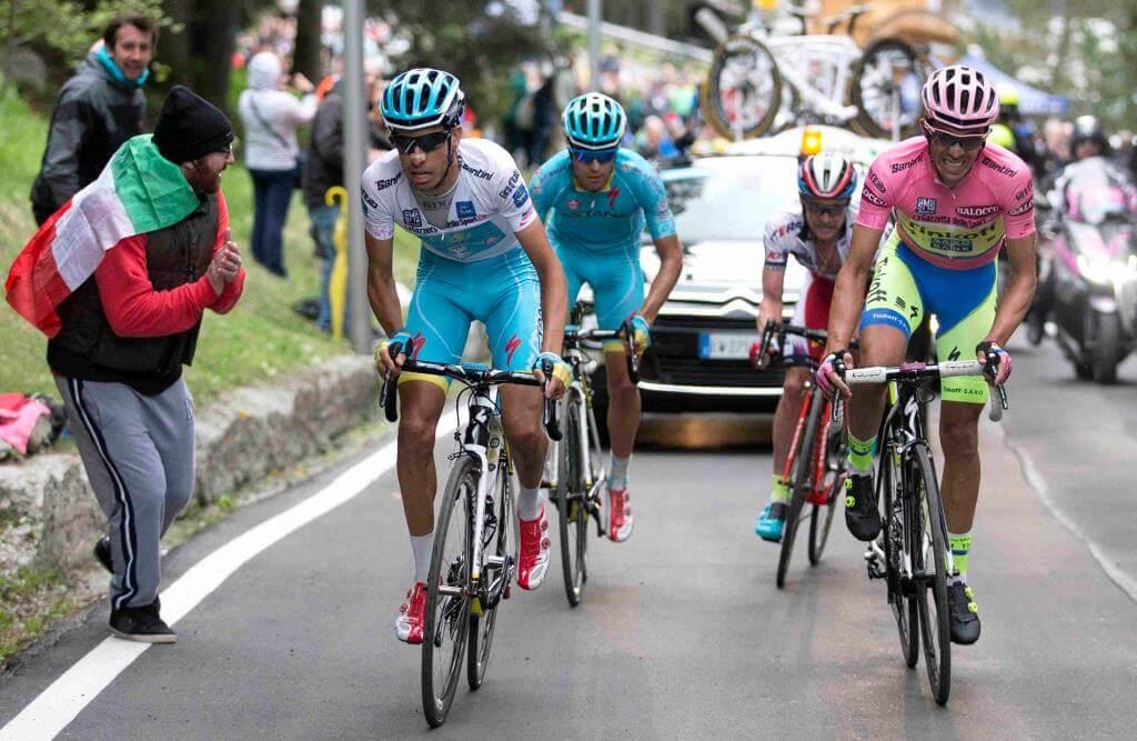 Fabio Aru, Mikel Landa e Alberto Contador (da Facebook Giro d'Italia)
