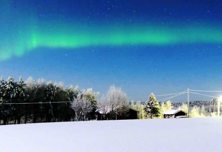 L'aurora boreale (Infophoto)
