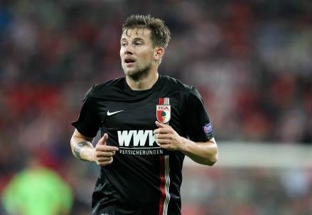 Daniel Baier, 31 anni, centrocampista dell'Augsburg (INFOPHOTO)