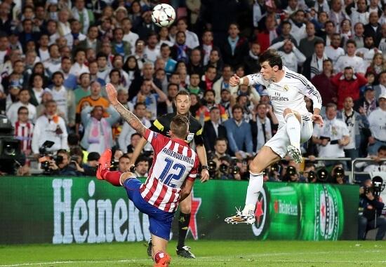 Il gol di Gareth Bale nella finale di Champions League (Infophoto)