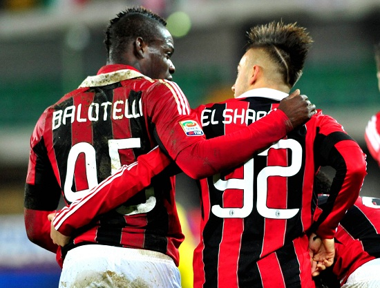 Balotelli ed El Shaarawy tornano a far coppia (Infophoto)