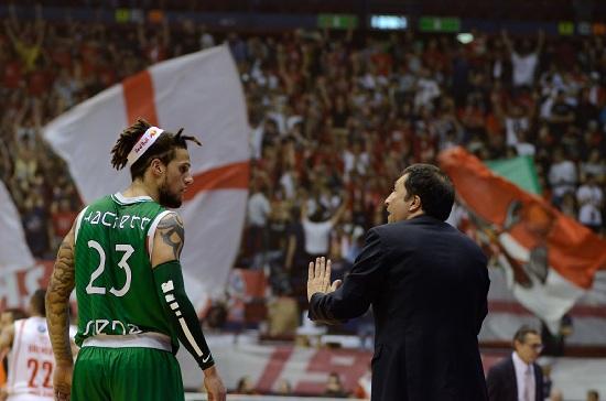 Luca Banchi, 48 anni, capo allenatore dell'Olimpia Milano (INFOPHOTO)