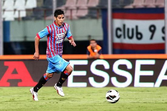 Pablo Barrientos, attaccante del Catania (Infophoto)