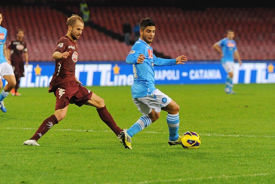 Lorenzo Insigne, attaccante Napoli (Foto Infophoto)