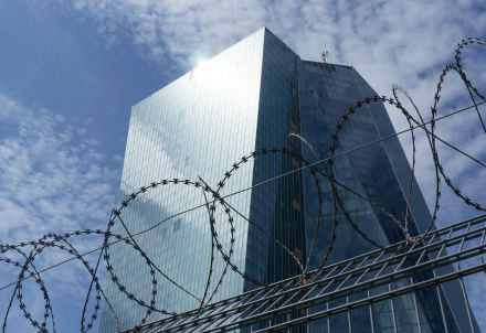 La sede della Bce a Francoforte (Infophoto)