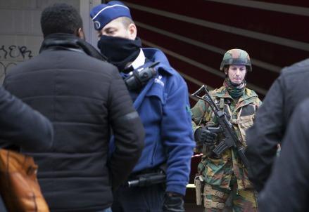 Operazioni antiterrorismo a Bruxelles (Infophoto)