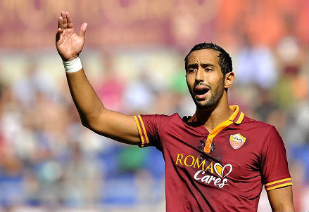 Mehdi Benatia, 26 anni, difensore marocchino della Roma (INFOPHOTO)