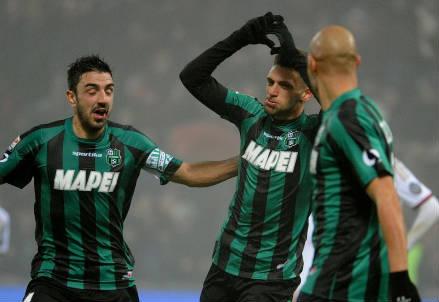Domenico Berardi all'andata segnò quattro gol (Infophoto)