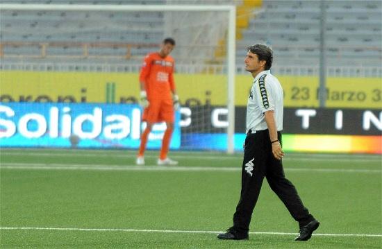Mario Beretta, 53 anni, allenatore del Siena che sfida l'Empoli capolista (INFOPHOTO)