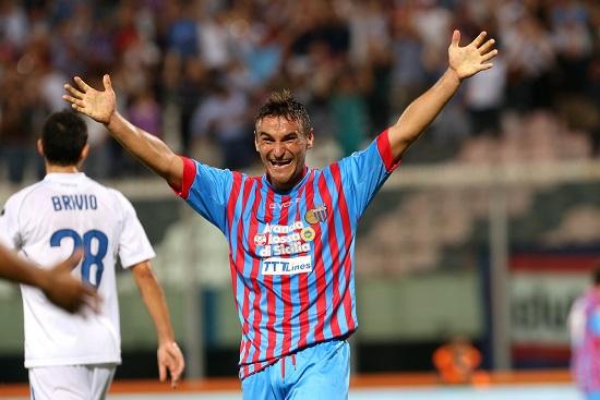 Bergessio, attaccante del Catania (Foto Infophoto)