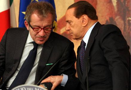 Roberto Maroni e Silvio Berlusconi