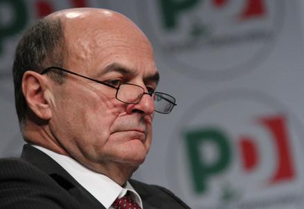 Il segretario del Pd, Pierluigi Bersani (InfoPhoto)