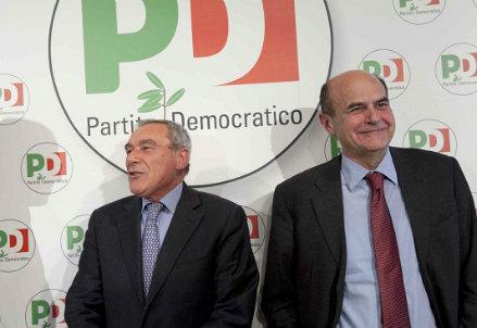 Pietro Grasso, Pierluigi Bersani - Infophoto