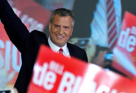 Bill de Blasio, nuovo sindaco di New York (Infophoto)