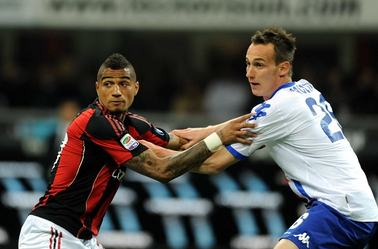 Kevin Prince Boateng (sinistra), 25 anni, e Massimo Volta, 25 (INFOPHOTO)