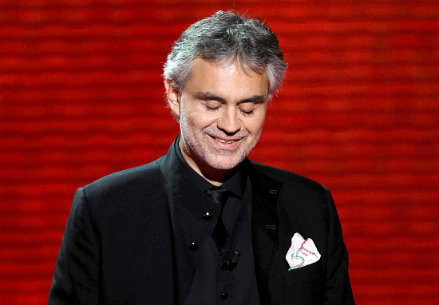 Andrea Bocelli, foto Infophoto