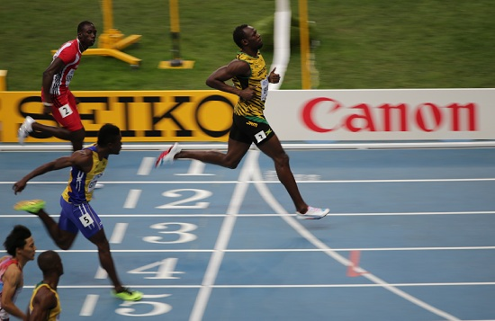 Usain Bolt a Mosca 2013 (Infophoto)