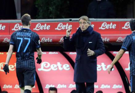 Brozovic e Mancini (Infophoto)