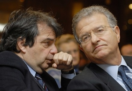 Renato Brunetta e Fabrizio Cicchitto (Infophoto)
