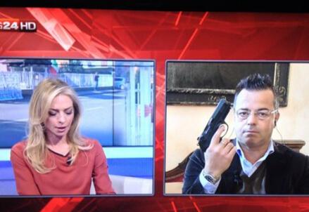 Immagine dalla televisione