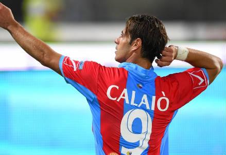Emanuele Calaiò, 32 anni, attaccante del Catania (dall'account Twitter ufficiale @Catania))