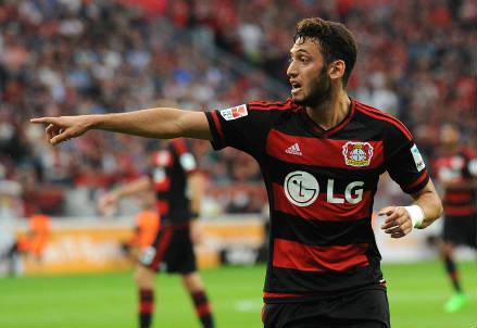 Hakan Calhanoglu, 21 anni, trequartista del Bayer Leverkusen (INFOPHOTO)