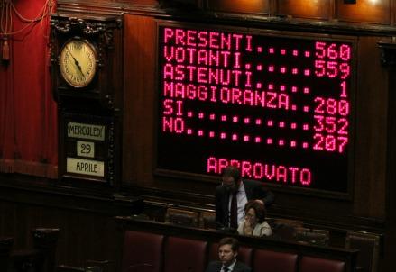 Approvato il primo articolo dell'Italicum (Infophoto)