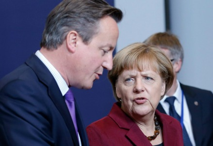 David Cameron con Angela Merkel (Infophoto)