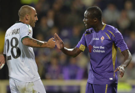 Babacar, attaccante Fiorentina (Foto Infophoto)