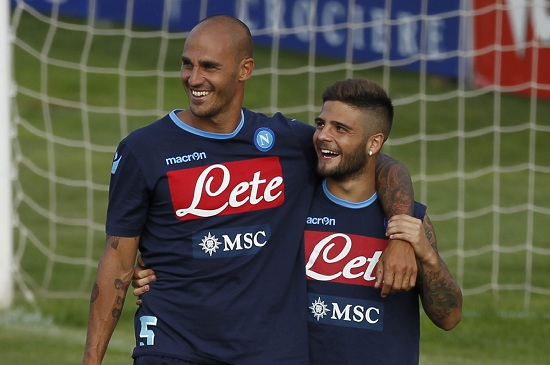 Paolo Cannavaro e Lorenzo Insigne: due napoletani ora avversari (Infophoto)