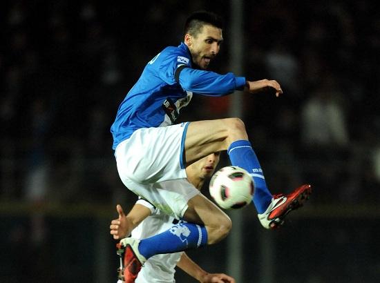 Andrea Caracciolo, attaccante del Brescia (Infophoto)